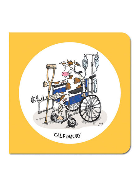 Calf Injury Greeting Card