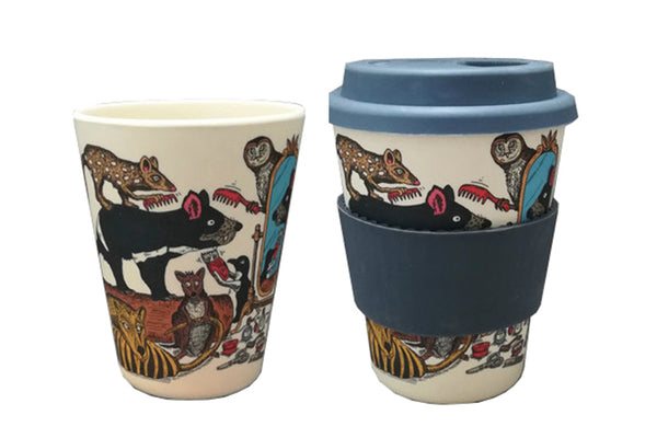 Eco-Bamboo fibre Keep Cups w/ silicon lid: You Handsome Devil