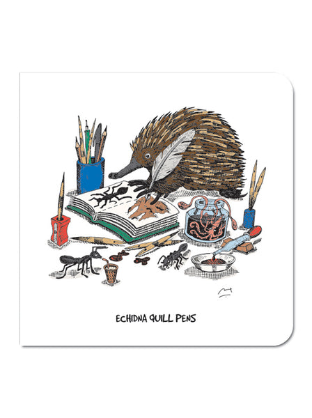 Greeting Card: Echidna Quill Pens