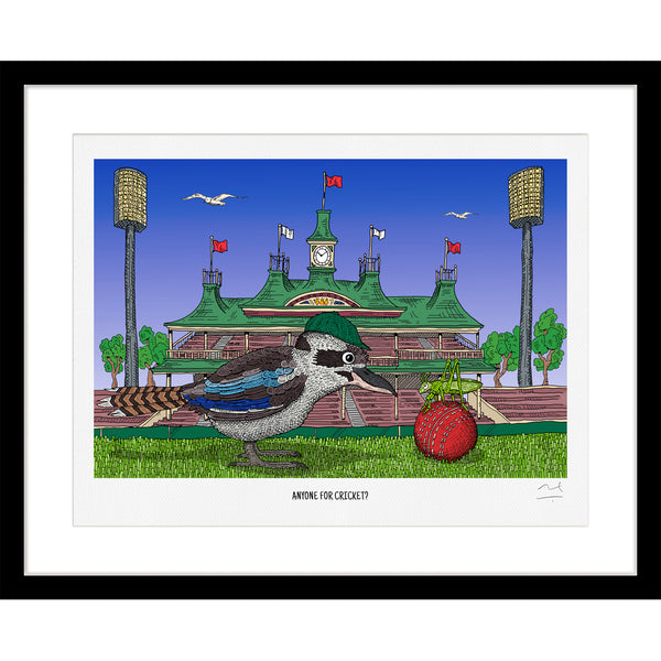 Limited Edition Art Print: Anyone for Cricket?