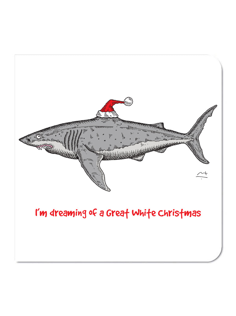 Great White Christmas Card