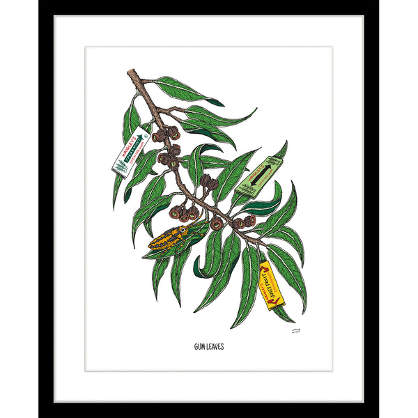 Print: Gum leaves