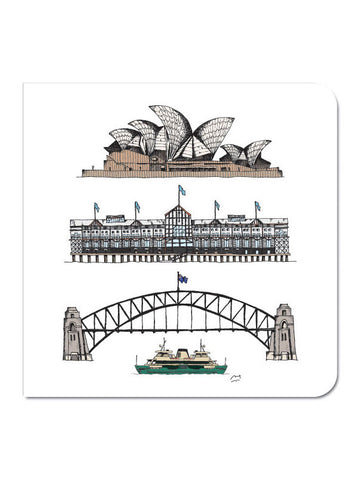 Sydney Harbour Icons Greeting Card