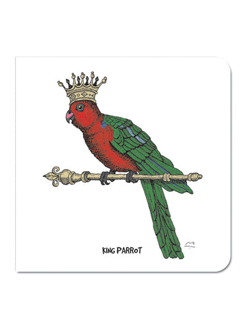 Greeting Card: King Parrot