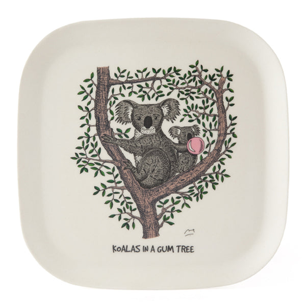 Eco-bamboo fibre trays: Koalas in a Gum tree