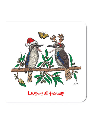 'Laughing all the way' Christmas Card