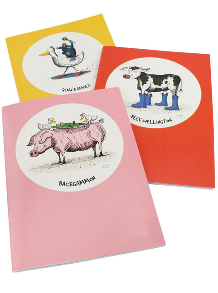 Moveable Feast Set of 3 Notebooks