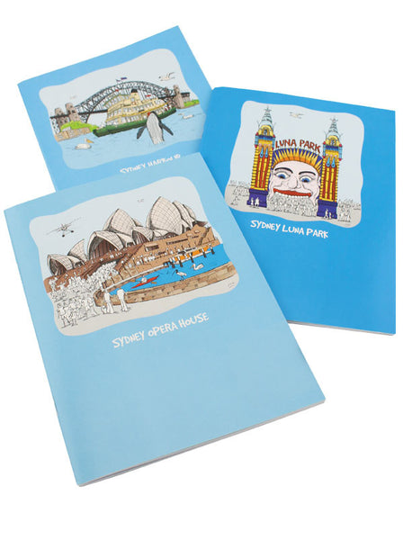Sydney Harbour Set of 3 Notebooks