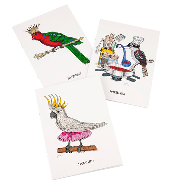 Australian Birds Set of 3 Notebooks