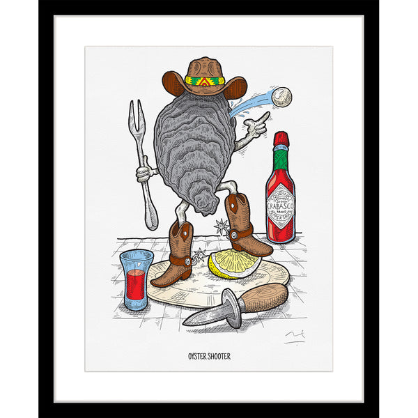 Limited Edition Art Print: Oyster Shooter