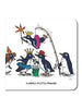 Greeting Card: A Waddle of Little Penguins
