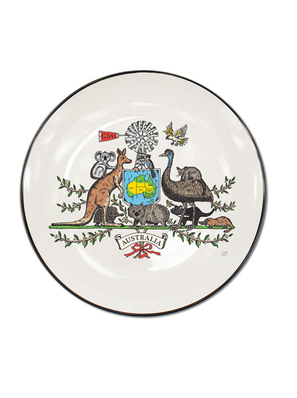 Australian Icon Single Canapé Plate