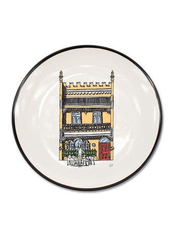 Yellow Terrace House Canapé Plate