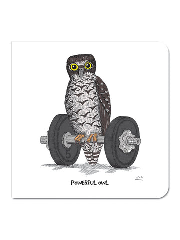Greeting Card: Powerful Owl