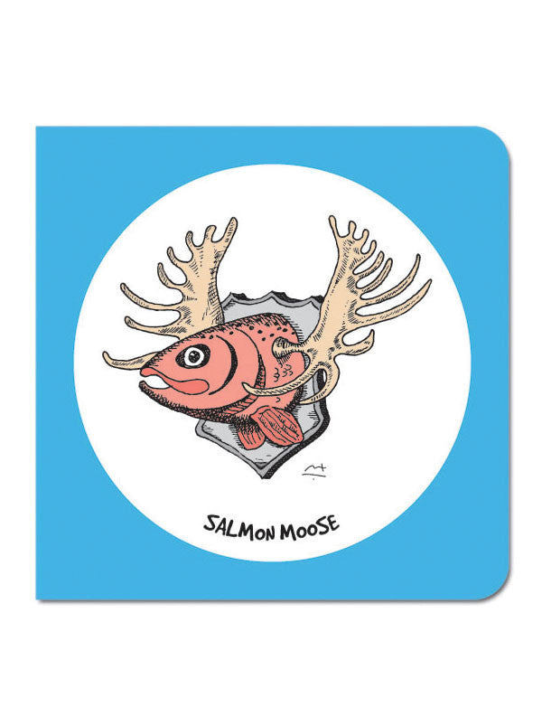 Salmon Moose Greeting Card