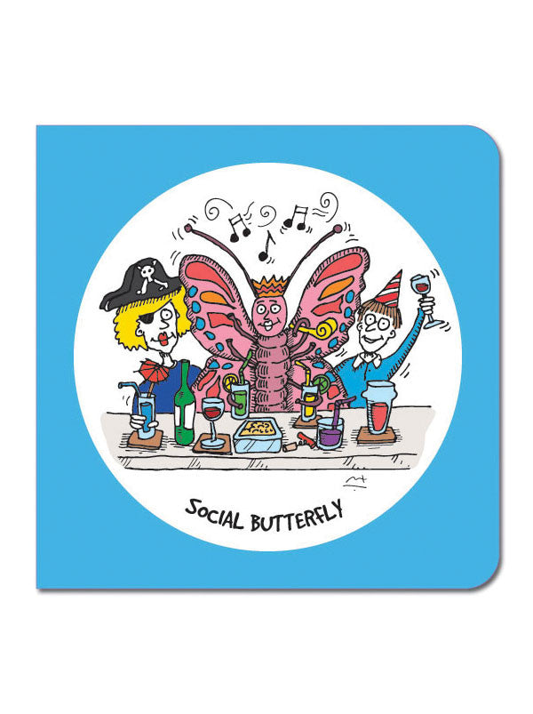Social Butterfly Greeting Card