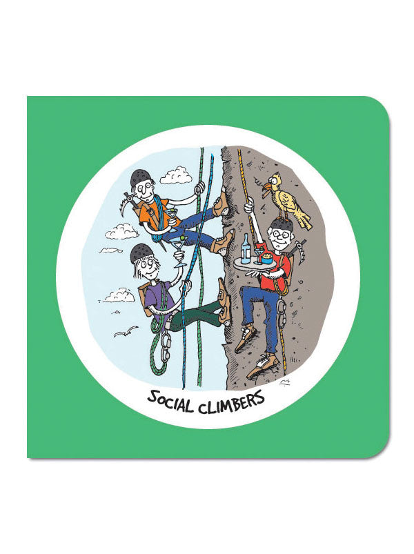 Social Climbers Greeting Card