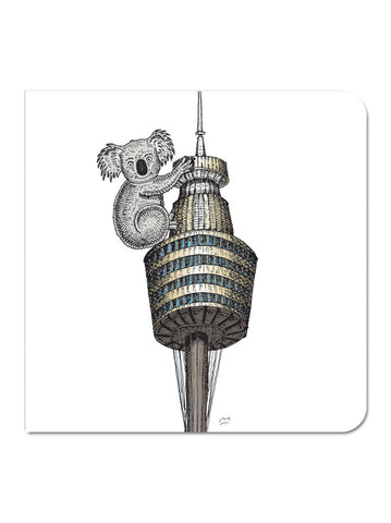 Greeting Card: Sydney Tower with Koala