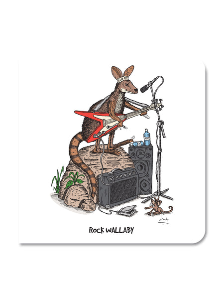 Greeting Card: Rock Wallaby