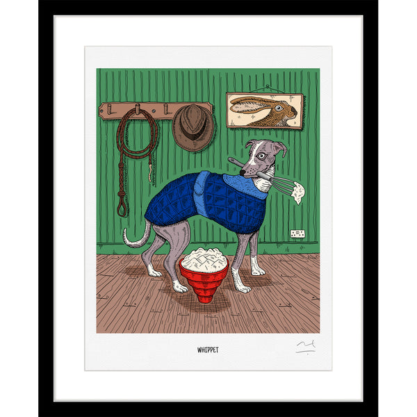 Limited Edition Art Print: Whippet