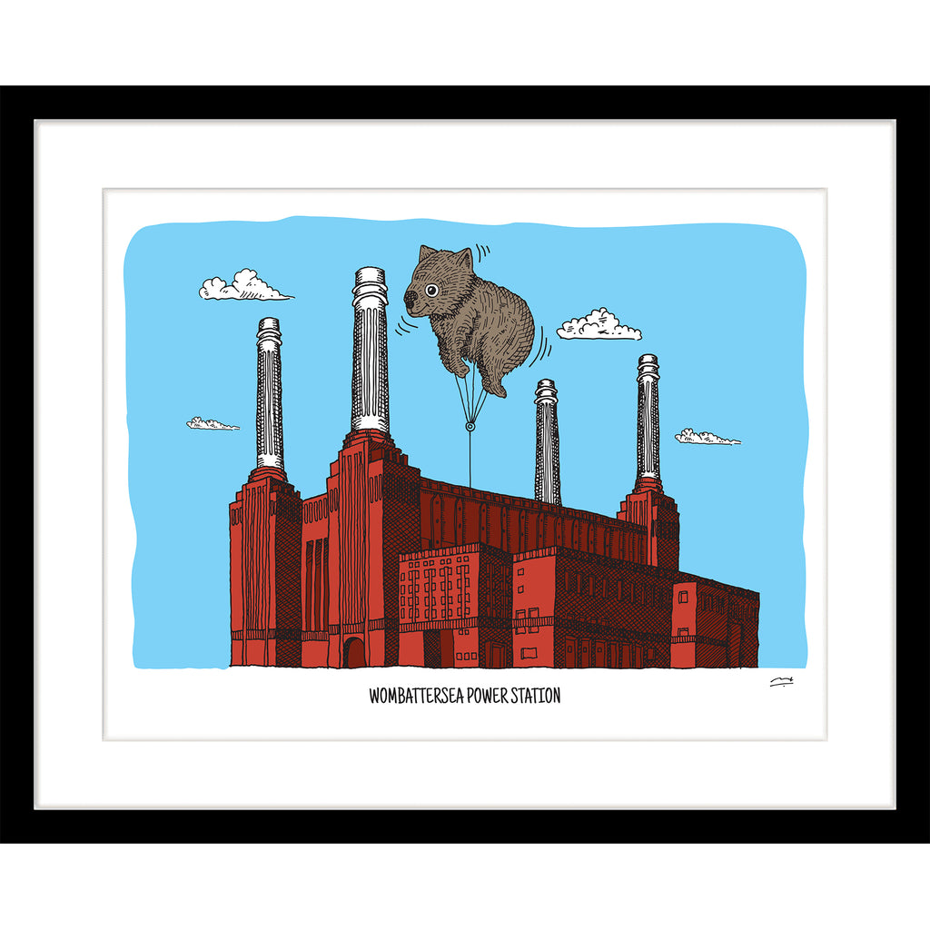 Art Print: Wombattersea Power Station