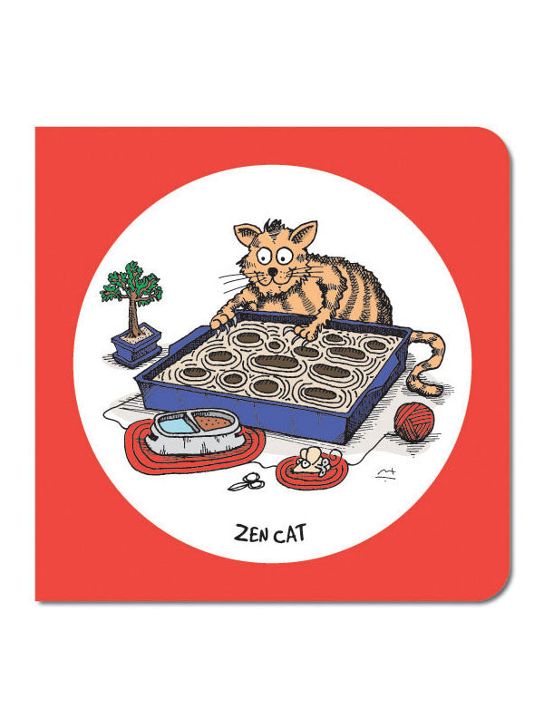 Zen Cat Greeting Card