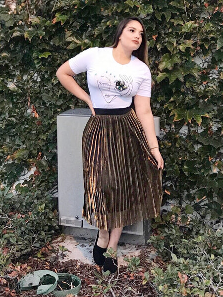 35a3862a8f4 ... That s So Vogue Boutique ·  GOLDIIE  Skirt - Gold Black