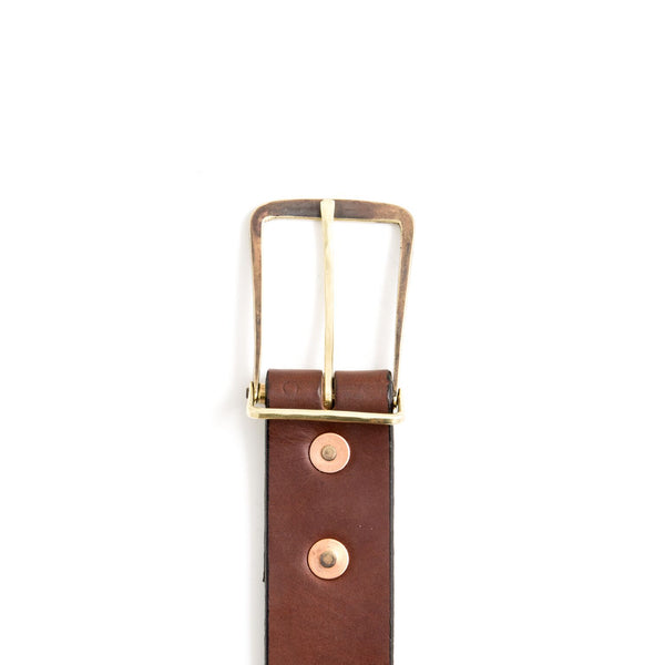 Workshop Belt - Brown/Brass