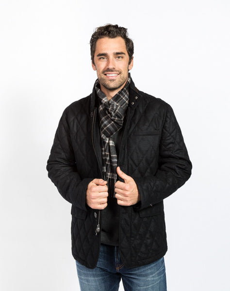Damian Quilted Field Jacket - Black