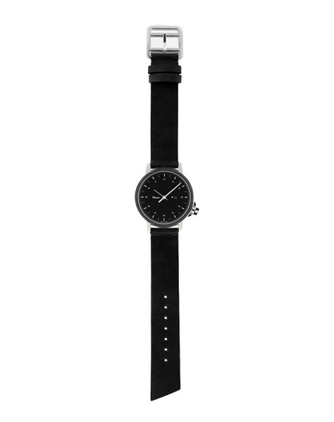 M12 Swiss Stainless Steel Watch on Black Leather