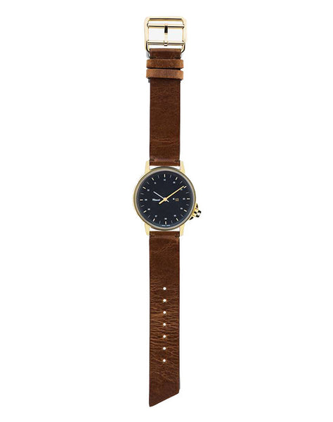 M12 Swiss Gold Watch on Cognac Leather