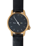 M24 Gold Watch on Black Leather