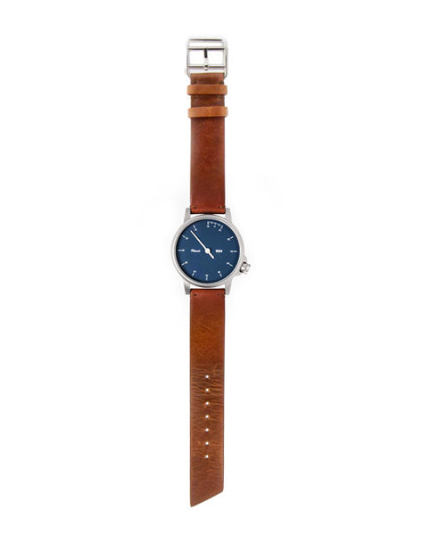 M24 Stainless Steel Watch on Brown Leather