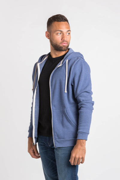 Broadway Zip Hoodie - Navy Heather