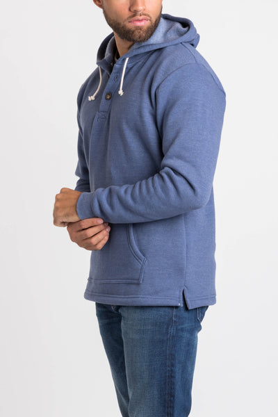 Summit Henley Hoodie - Navy Heather