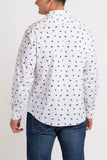Umbrellas Long Sleeve Shirt - White