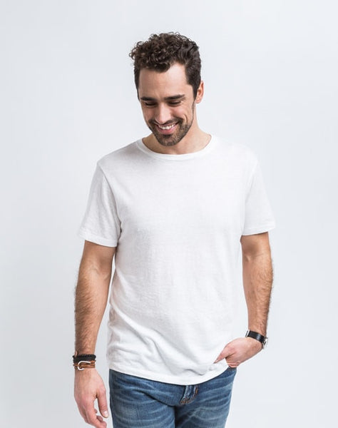 Josh Crew Neck in White best known for great fit and soft feel.