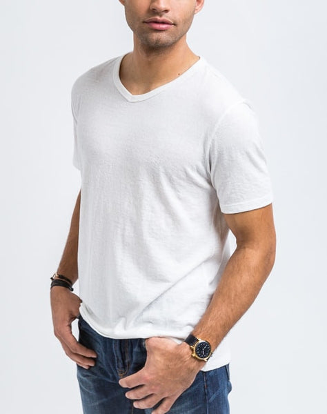 Luke V Neck - White