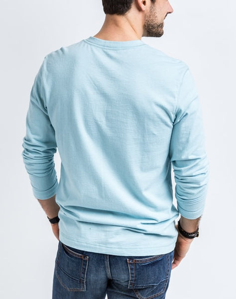 The Rob in Croatia is a timeless long sleeve henley that is known for its quality and comfortable cotton brushed jersey.