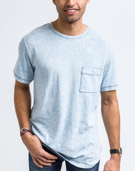 Jesse Indigo Pocket Crew Neck