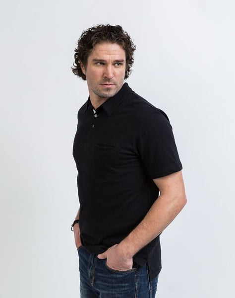 The Alex golf polo in black is known for its structure and good fit.