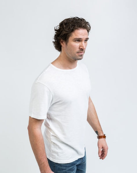 Joe Crew Neck in White has a soft texture and a great fit.