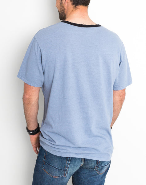 Nick Linen Crew Neck - Gunmetal Grey