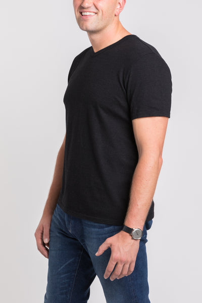 Luke V Neck - Black
