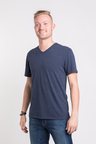 Luke V Neck - Navy Heather