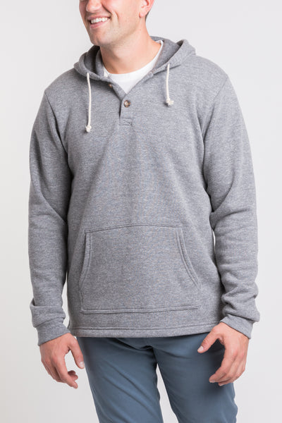 Summit Henley Hoodie - Medium Heather
