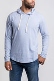 Belltown Raglan Hoodie - Light Blue Grey