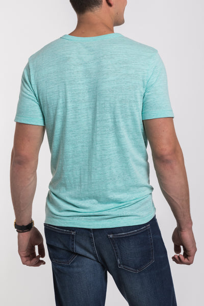 Mercer V Neck Henley - Mint