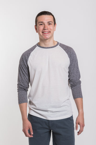 SODO Baseball Raglan - White/Heather