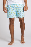Pineapple Party Swim Trunks - Sky